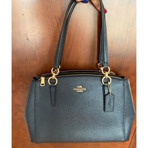 MIDNIGHT BLUE COACH BAG NEW WITH TAGS